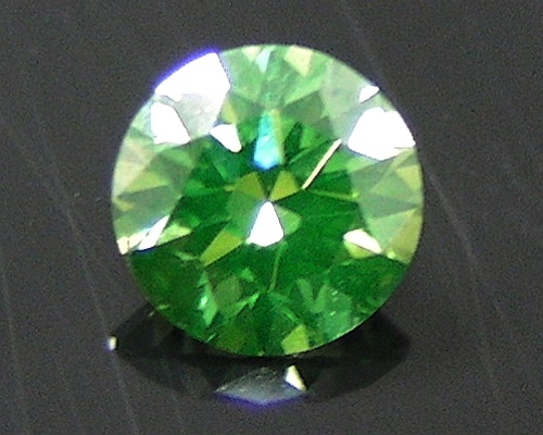 diamond round cut green htm loose olive ct enhanced ro p clarity irradiated color